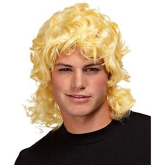 長髪の男性のための金髪をウィッグします。