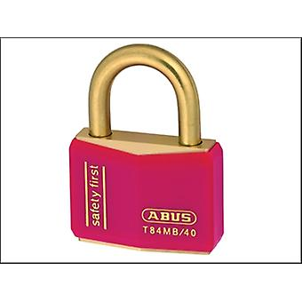 T84MB/40 40MM RED SAFETY FIRST RUSTPROOF PADLOCK