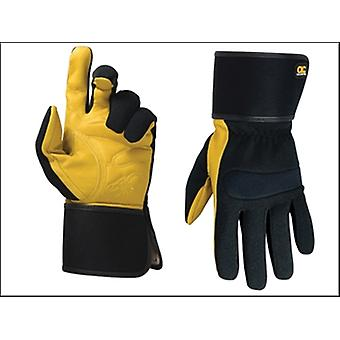 HYBRID-270 TOP GRAIN LEATHER CUFF GLOVES LARGE
