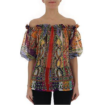 Etro Multicolor Silk Top