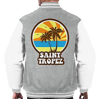 Saint Tropez Beach Retro Men's Varsity Jacket