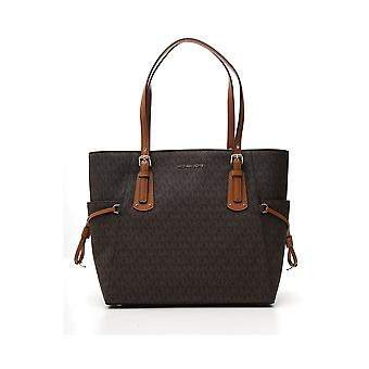 Michael Kors Voyager Brown Leather Tote