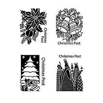 Spellbinders kerst Postman stempels & matrijzen (SDS-163)