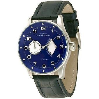 Zeno-watch mens watch X-large retro retrograde (12 crystal) P592 slide g4
