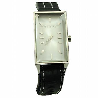 GIORDANO 2051-2 Ladies White Dial Black Strap Watch