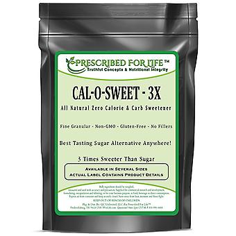 Cal-O-Sweet (TM) - All Natural Zero Calorie & Carb Sugar-Free Sweetener- 3x Concentrate