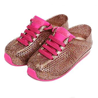 Melissa Shoes Mini Melissa Love System 18 Trainers, Pink Glitter
