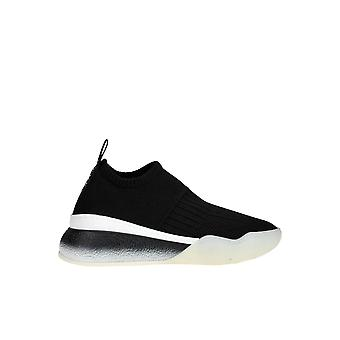 Stella Mccartney Black Fabric Slip On Sneakers