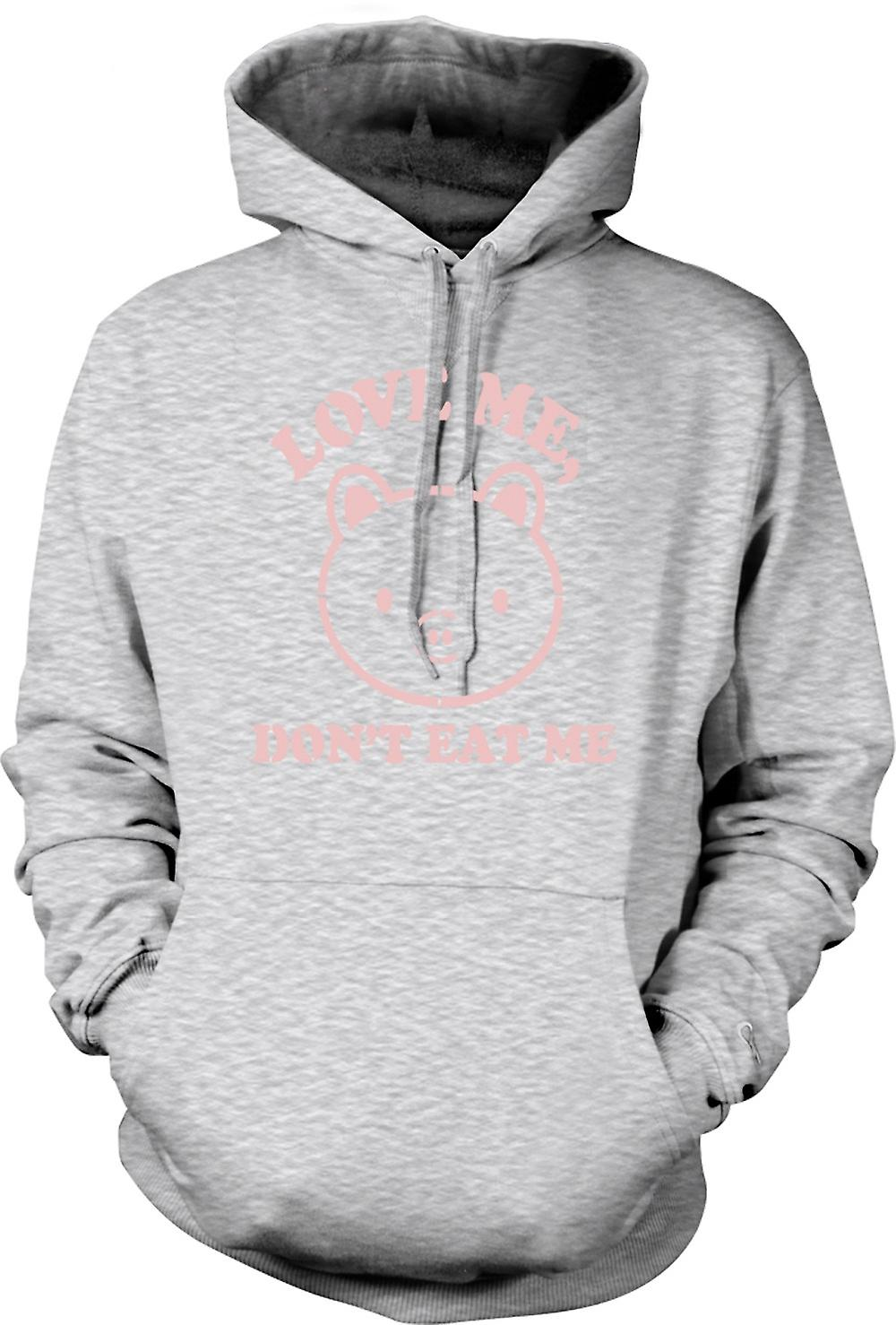 Mens Hoodie - Love Me, Don�t Eat Me - Funny