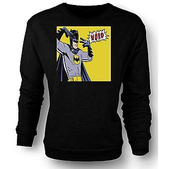 Kids Sweatshirt Batman Word - Funny