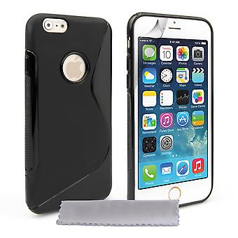 Caseflex iPhone 6 and 6s Silicone Gel S-Line Case - Black