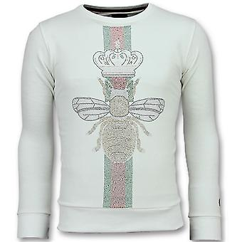 King Fly Glitter-Men's exclusive sweatshirt-6342W-White
