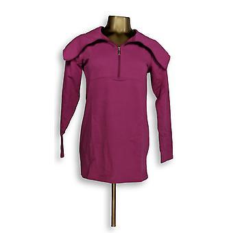 Denim & Co. Women's Top XXS Active Cowl Neck French Terry Purple A272079