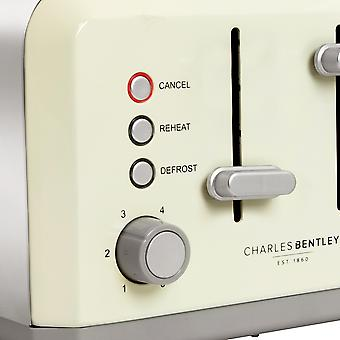 Charles Bentley 4 Slice Cream Toaster Stainless Steel Browning Control Charles Bentley 4 Slice Cream Toaster Stainless Steel Browning Control Charles Bentley 4 Slice Cream Toaster Stainless Steel Browning Control Charles Bentley