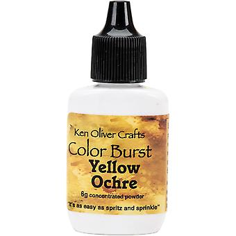 Ken Oliver Color Burst Powder 6gm-Yellow Ochre KNCPW-6301