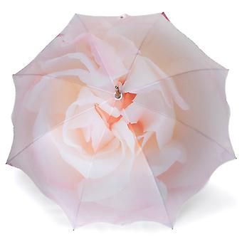 Umbrella stick umbrella beige rose motif