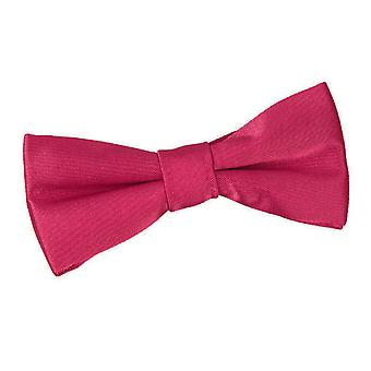 Boy's Crimson Red Plain Satin Pre-Tied Bow Tie