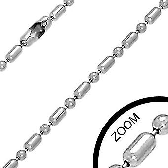 Urban Male Stainless Steel 2mm Military Link Chain 24in Long