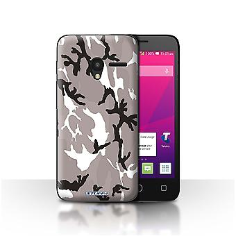 STUFF4/Housse pour Alcatel OneTouch Pixi 3 5/blanc 4/Camouflage Army Navy