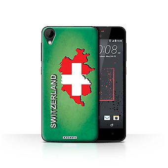 STUFF4 Case/Cover for HTC Desire 825/Switzerland/Swiss/Flag Nations
