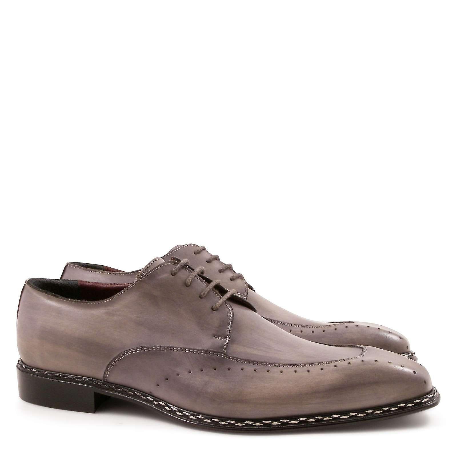 chaussures de robe masculine en cuir italien fait à la main en Italie