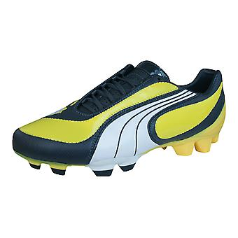 Puma V3.08 i FG Mens Leather Football Boots / Cleats - Yellow