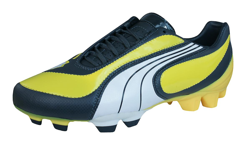 08 Yellow Mens i Puma Leather Puma Boots Football FG V3 Cleats 5gaUyq4