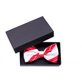 Fly gloss red white striped bow tie loop Fabio Farini of fine strips