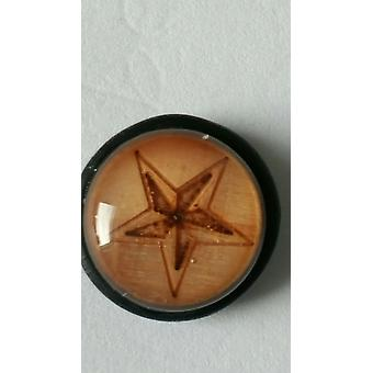 Fake Cheater Ear Plug, Earring, Body Jewellery, Wood Nautical Star