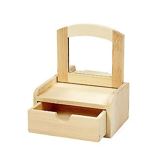 Wooden Jewellery Box with Mirror Lid | Wooden Shapes for Crafts