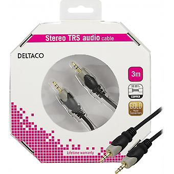 DELTACO audio cable 3, 5 mm HA-HA, gold-plated, 3 m
