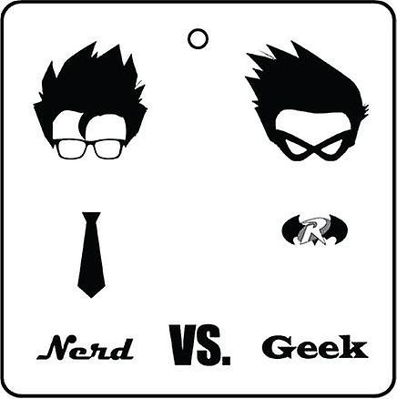 Nerd Vs Geek Car Air Freshener