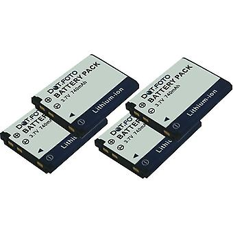 4 x Dot.Foto Medion VG037612210001 batterie de rechange - 3.7V / 740mAh