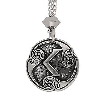 Handmade Norse Viking Ken Rune of Passion Pewter Pendant ~ 20 inch Chain