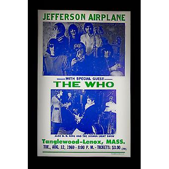 Jefferson Airplane retro concert poster
