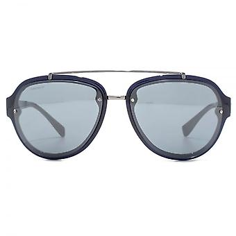Versace Medusa Temple Pilot Sunglasses In Blue