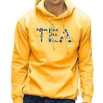 It's Always Tea Time Men's Hooded Sweatshirt