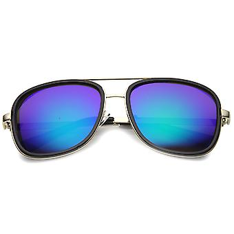 Unisex Aviator Sunglasses With UV400 Protected Mirrored Lens