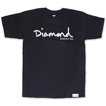 Diamond Supply Co OG Script T-shirt Navy