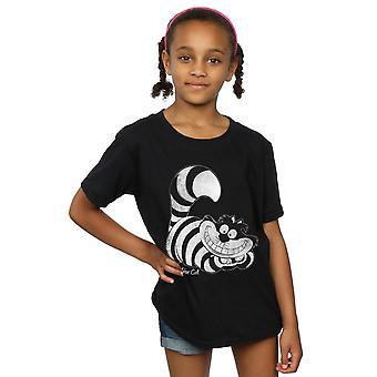 Disney Girls Alice In Wonderland Mono Cheshire Cat T-Shirt
