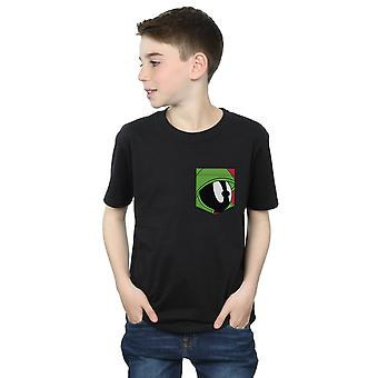 Looney Tunes drenge Marvin Martian ansigt Faux lomme T-Shirt