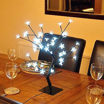 45 cm White Blossom LED Bonsai Tree Decoration Light