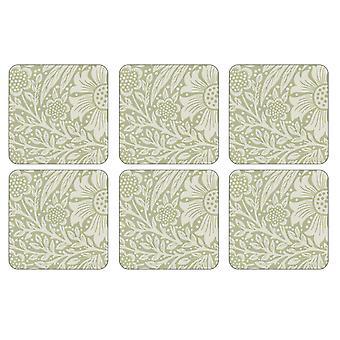 Pimpernel Marigold Green Coasters, Set of 6