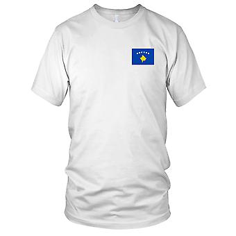Nationalflagge Kosovo Land - Stickerei Logo - 100 % Baumwolle T-Shirt Herren T Shirt