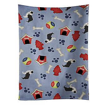 Black Border Collie Dog House Collection Kitchen Towel