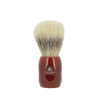 Vie-Long Horse Hair Shaving Brush Wine Red
