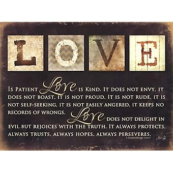 Love Is Poster Print by Marla Rae (24 x 18)