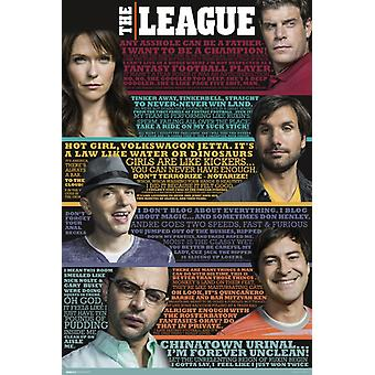 The League - Quotes Poster Poster Print