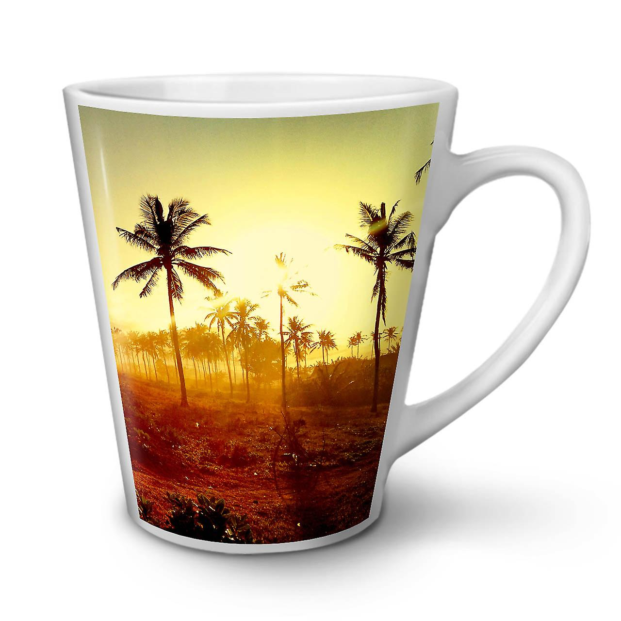 Mug Café Thé 12 Sun Palm OzWellcoda Latte Nouveau En Art Blanc Photo Céramique y6gfbIY7v
