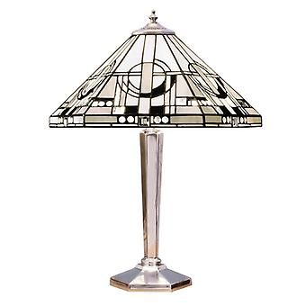 Metropolitan Medium Tiffany Style polerad Aluminium bordslampa - interiör 1900 64260